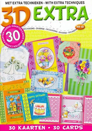 30 Occasions Cards With Paper Embroidery 3D Decoupage A4 Book By Studio Light